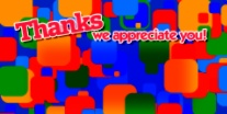 Thanks - Color Blocks