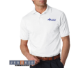 Adult Jersey Golf Shirt with Spotshield - White