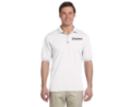 Gildan UltraBlend Jersey Golf Shirt - White