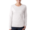 Gildan Softstyle Ladies Long Sleeve T-Shirt-White