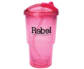 16 oz Double Wall Travel Tumbler with Straw