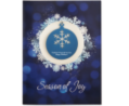 Snowflake Holiday Card with Blue Ornament