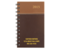 Hard Cover Spiral Weekly Planner - 2015