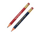 Note: The round Golf pencils with eraser are available for $0.02 more.