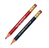 Note: The round Golf pencils with eraser are available for $0.04 more.