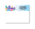 Bic® Sticky Note 25 Sheet Pads- Blue Bubble Thanks